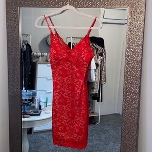 🎁 A'GACI RED LACE HOLIDAY DRESS
